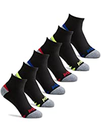 Boys' Quarter Length Athletic Ankle Socks with Cushion for Active Kids