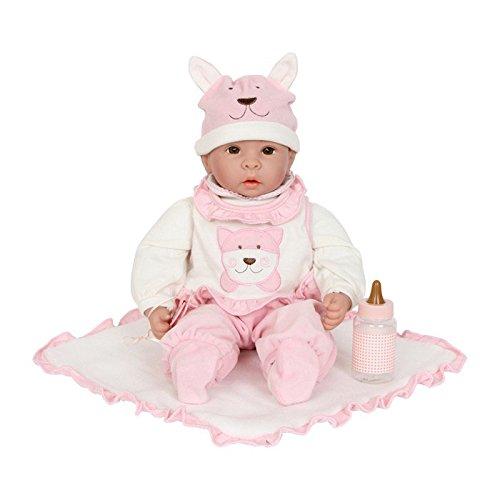Puppe mit Baby-Zubehör, fein gezeichnetes Gesicht, ein Muss für alle Puppenmuttis