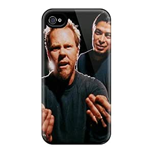 InesWeldon Iphone 4/4s Shock Absorbent Hard Cell-phone Cases Provide Private Custom Nice Metallica Pattern [raD5899XTCc]