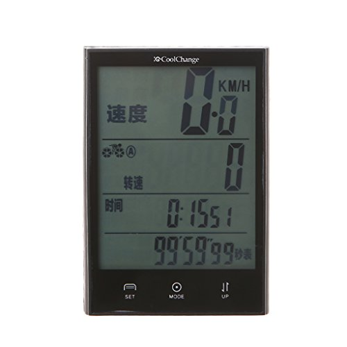 ULKEME Bike Computer Waterproof Wireless Speedometer Multifunction LCD Cycling Odometer