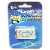 MaximalPower 9 Volt Li-Ion Rechargeable Battery HIGH CAPACITY 550mAh 9V Block
