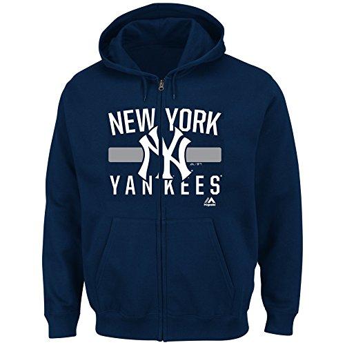 Women's Plus Majestic MLB Fleece Zip Up Hoodie (Plus 1X, New York Yankees)