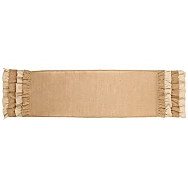 The Country House Collection Multi Ruffle 54  Burlap Table Runner