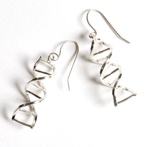 Sterling Silver DNA Double Helix Earrings