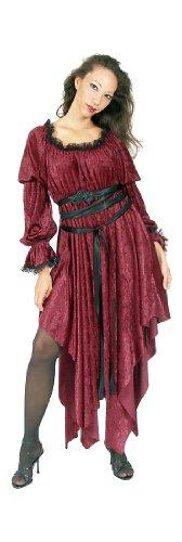 [Eternal Love Red Ophelia Velvet Renaissance Medieval Dress Plus Size (Large/XLarge)] (Medieval Fancy Dress Plus Size)