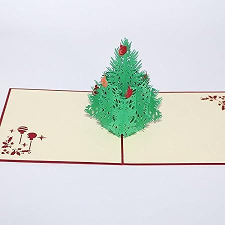 5/St/ück Weihnachten Karten 3D Pop up handgefertigt Urlaub im Papierbasteln Weihnachts New Year Gru/ßkarte Geschenk Karte Merry Christmas 01