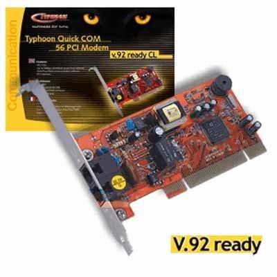 DOWNLOAD DRIVER: TYPHOON QUICK COM 56 PCI MODEM, V.92 READY