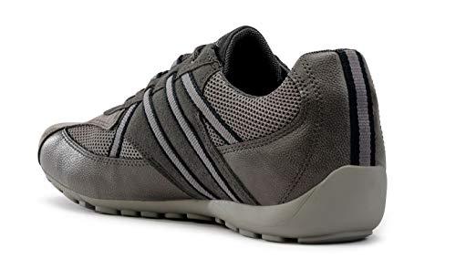 Grau U923fb Deportivos transpirable Con sneaker Zapatos Hombre Geox Zapatillas zapatillas Cordones varón mínimo Ravex zapato calzado 05WqwfZ