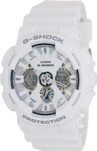 Time Mens White Dial (G-Shock Ana-Digi World Time White Dial Men's watch #GA120A-7A)