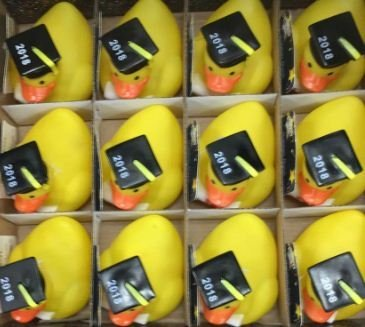 Graduation Rubber Ducks 2018 Party Favors - Pack Of -