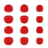 ALXCD Ear Tips for Powerbeats 2 Wireless Headphone, SML 3 Sizes 6 Pair Silicone Replacement Earbud Tips Ear Gel, Fit for Beats Powerbeats2 Powerbeats 3 Wireless [6 Pair](Red)