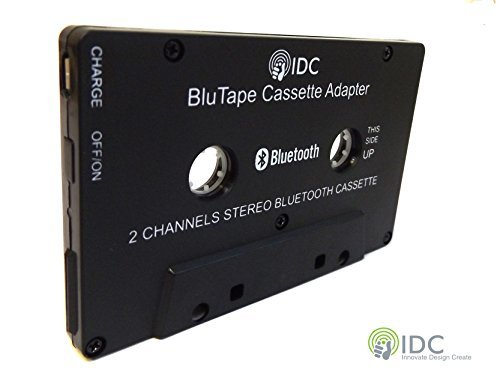 Bluetooth Receiver Car / Van Stereo Cassette Adapter - Turn a stereo cassette tape player Bluetooth for wireless music. Stream audio to your iphone - Ipad or Samsung Phone Etc