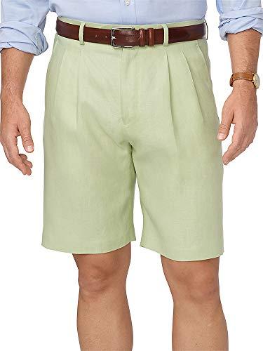 Paul Fredrick Men's Linen Pleated Shorts Sage 50