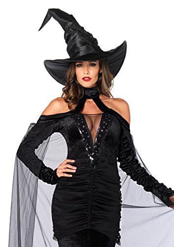 Leg Avenue Women's 2 Piece Sultry Sorceress Costume, Black, X-Large (Sultry Costumes)