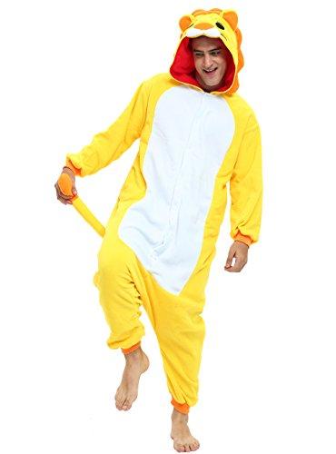 Lion Onesie Costume for Adults and Teenagers, Halloween Animal Kigurumi Pajama(Small)