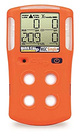 Portable Gas Detection >> Gasclip Simple Multi Gas Portable Gas Detector 3 Year Disposable