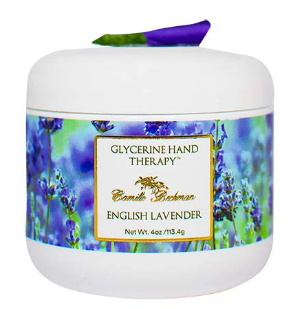 Camille Beckman Glycerine Hand Therapy Cream, English Lavender, 4 - Jr Jewels