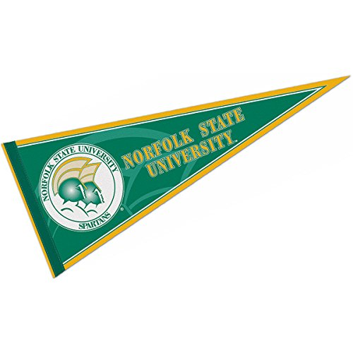 Norfolk State Spartans Green - College Flags and Banners Co. Norfolk State University Pennant Full Size Felt