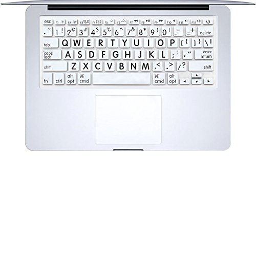 "MasiBloom Silicone Keyboard Cover for Old Version MacBook Air 13"" MacBook Pro with or Without Retina Display 13""15"" 17"" Ultra Thin Keyboard Skin, Not fit for with 2019 2018 Air 13 A1932 (Big Font)"
