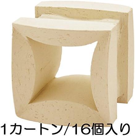 ブロック せっき質無釉ブロック ポーラスブロック100 ハナワ フラワーF(配筋溝あり・4本角溝) 16個セット単位 屋外壁