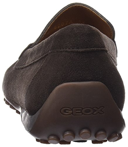 Geox Snake, Mocassini Uomo Marrone (Chocolate)