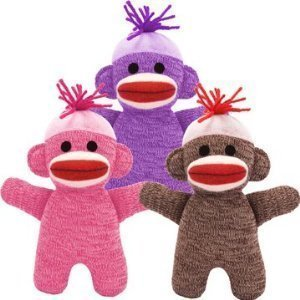 Baby Sock Monkey (Color May Vary) by Schylling -