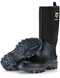 Rubber Neoprene Boots Men and Women, Waterproof Durable 6mm Neoprene Boot, Rain Boot Muck Hunting Boot Arctic Outdoor Boot(Ger‖)