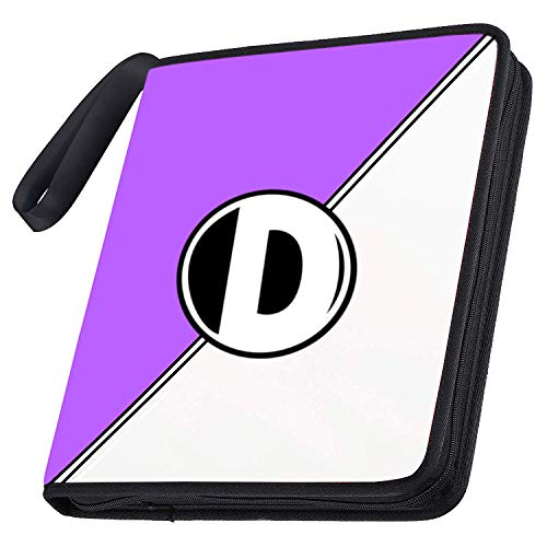 D DACCKIT Carrying Case Compatible with Pokemon Trading Cards, Cards Collectors Album with 50 Premium 9-Pocket Pages, Holds Up to 900 Cards - Purple and White