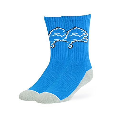 NFL Detroit Lions OTS Anthem Sport Sock, Blue Raz, Large