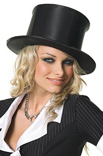 Mememall Fashion Magician Circus Ringleader Burlesque Dancer Full Satin Top Hat (Circus Magician Costume)