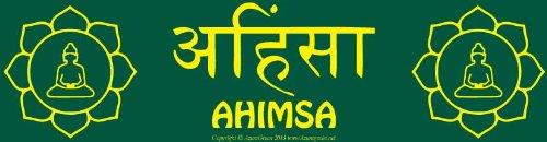 Ahimsa Lotus Bumper Sticker (Ahimsa Necklace)