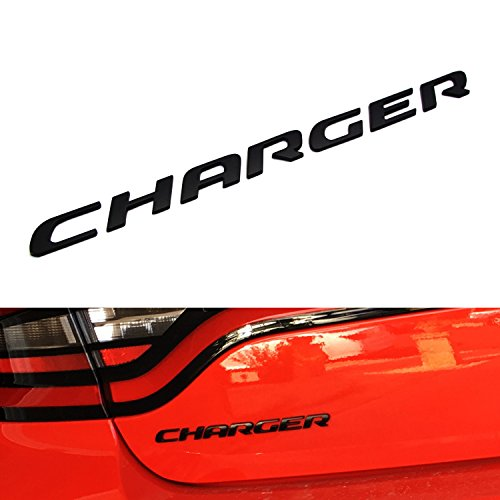 Shelby Letter - 7-Letter/Set Matte Black Finish Rear Trunk 3D Alloy Metal Letters Stickers For Dodge Charger