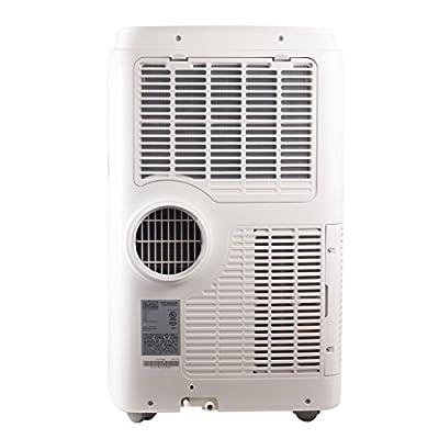 Black + Decker 12000 BTU Portable Air Conditioner Unit + 10000 BTU Heater, Remote, LED Display, Window Vent Kit, 4 Caster Wheels, White