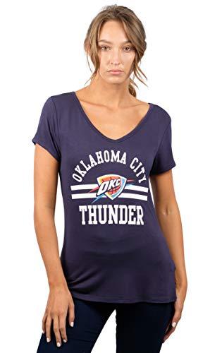 NBA Oklahoma City Thunder Women's T-Shirt Relaxed Short Sleeve Tee Shirt, Large, Pale Blue (Oklahoma T-shirt Ladies)
