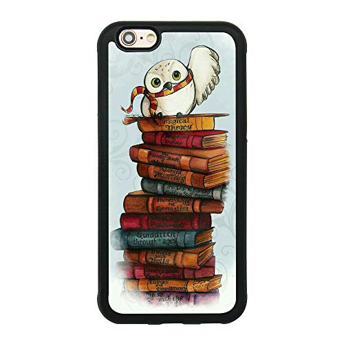 Potter Cell Harry Phone - Owl Hedwig Harry Potter Theme Case for iPhone 6/6S (4.7 Inch) TPU Silicone Gel Edge + PC Bumper Case Skin Protective Custom Designed Printed Phone Protector Full Protection Cover