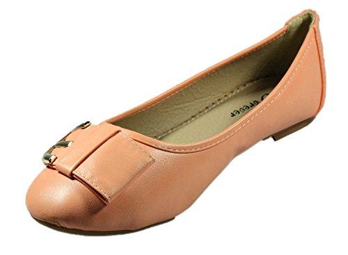Voor Altijd Vrouwen Ameena-15 Ballet Platte Koraal Kleur