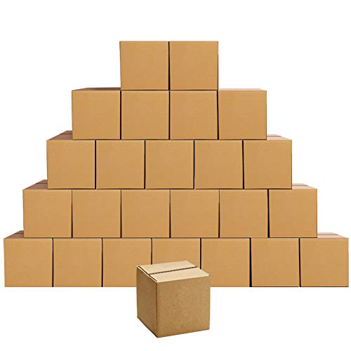EdenseeLake Cardboard Boxes 6 x 6 x 6 inches Small Shipping Boxes, 25 Pack
