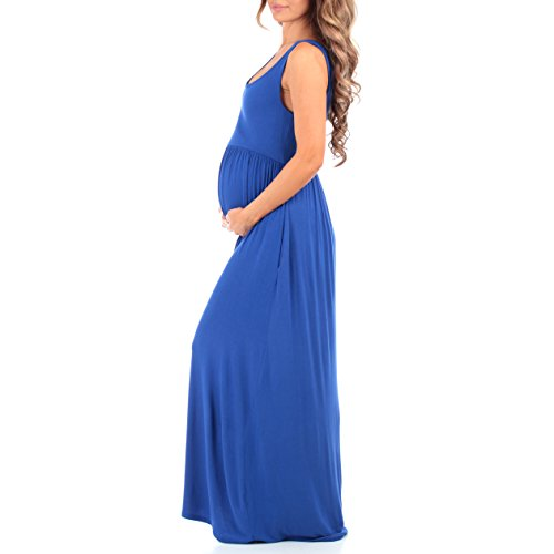 b24c5b5348bfc Women's Sleeveless Ruched Maternity Dress with Pockets - Made in USA ...