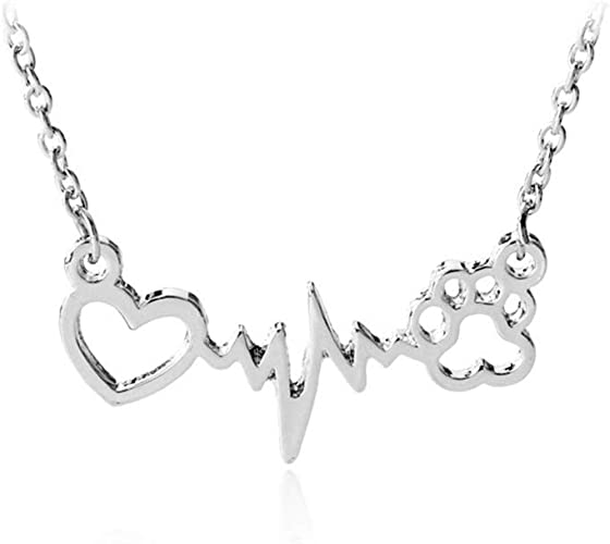 Love Heart Yorkie Puppy Pet Dog Necklace BFF CZ Gold Silver Tone Metal Necklace