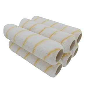 Dynamic HB21999U Unifibre Lint Free Paint Roller Refill, 6 Pack, 9-Inch x 3/8-Inch Nap