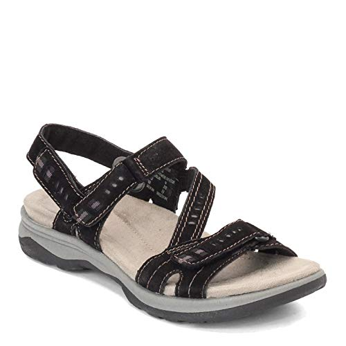 Earth Origins New Women's Holland Sandal Black Suede 8.5