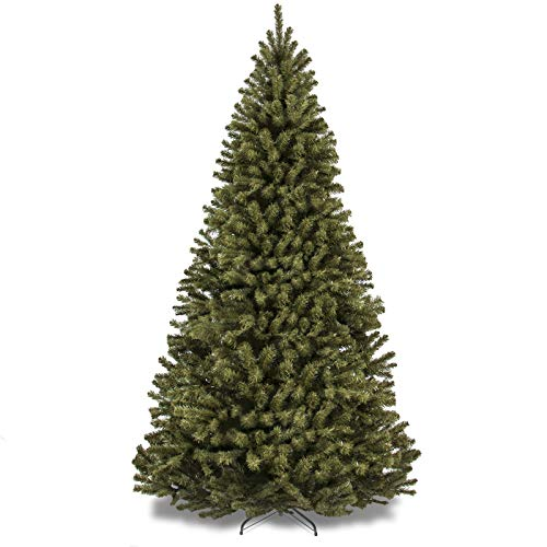Best Choice Products SKY2887 7.5ft Premium Spruce Hinged Artificial Christmas Tree w/Easy Assembly, Foldable Stand, Medium