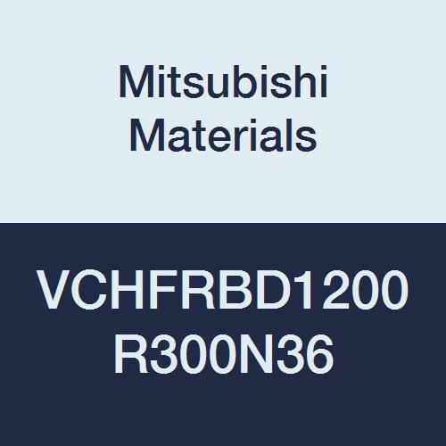 12 mm Cut Dia High Feed Corner Radius 3 mm Corner Radius 12 mm LOC 36 mm Neck Length 75 mm L Mitsubishi Materials VCHFRBD1200R300N36 VCHFRB Carbide Miracle Corner Radius End Mill 4 Flutes