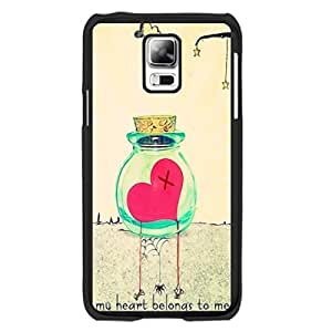 Hipster Love Heart Plastic Phone Cover - Cute Stars with Quotes Samsung Galaxy S5 Case Skin for Girls