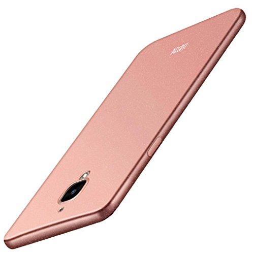Price comparison product image For Oneplus Three / OnePlus 3T Original Pelosi Sandstone Skin Case Cover Slim-Fit Flexible TPU Case , Tuscom (Rose Gold)