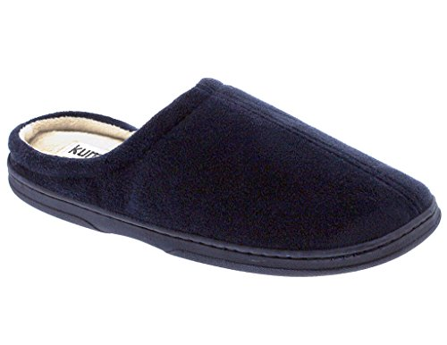 Memory Foam Slipper Men's Navy Microsuede fwqXT5vSx