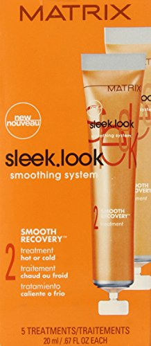 Matrix Sleek Look Smoothing Conditioner (Sleek Look Smoothing System 2 Smooth Recovery Treatment Hot or Cold 5 X .6 (each), 0.67 Ounce)