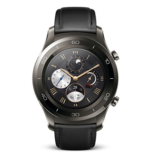 Huawei Watch 2 Classic Bluetooth (4GB Storage | IP68) Smartwatch (Titanium Grey) - International Version