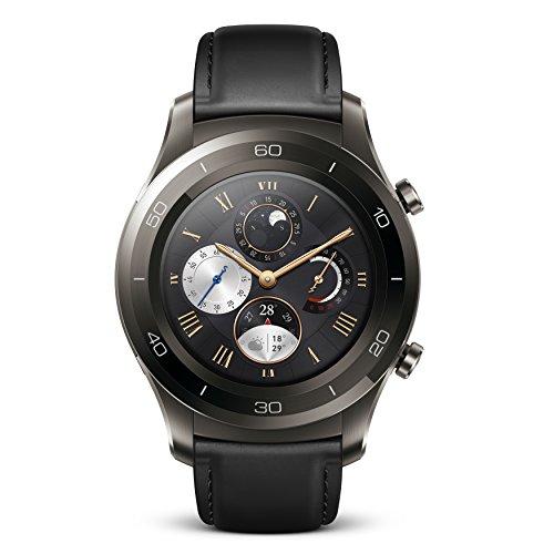 Huawei Watch 2 Classic Bluetooth 4GB IP68 Smartwatch (Titanium Grey) - No Warranty USA ]()