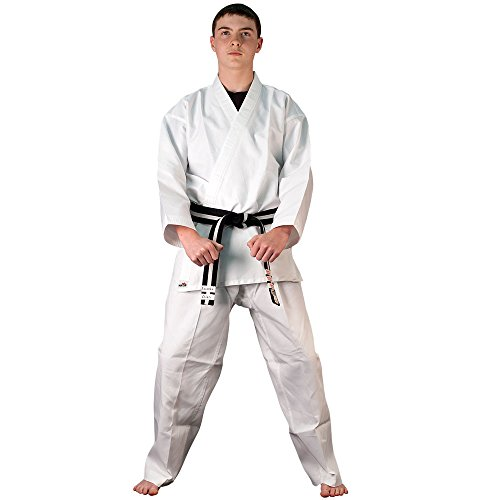 Tiger Claw 6 OZ. Ultra Light Weight Karate Uniform,White,4